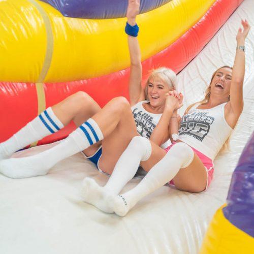Giant Slide Bucks Party